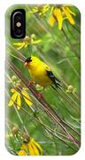 Goldfinch In The Flowers IPhone Case