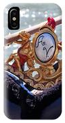 Gondola Bench Seat With Cherub Decoration Venice Italy IPhone Case