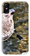 Goose In The Water IPhone Case