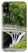 Gothic Bridge In Central Park IPhone Case
