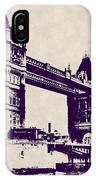 Gothic Victorian Tower Bridge - London IPhone Case