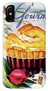 Gourmet Cover Illustration Of A Souffle And Tulip IPhone Case