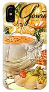 Gourmet Cover Of Pumpkin Soup IPhone X Case