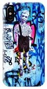Graffiti Rendition Of Diane Arbus's Photo - Child With Toy Hand Grenade In Central Park IPhone Case