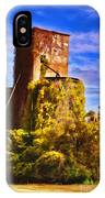 Grain Silos With Digital Painted Effect IPhone Case