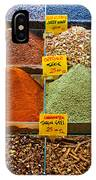 Grand Bazaar Spices In Istanbul IPhone Case