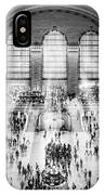 Grand Central Terminal Birds Eye View I Bw IPhone Case