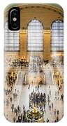 Grand Central Terminal Birds Eye View I IPhone Case