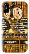 Grand Cerntral Terminal Clock No. 1 IPhone Case