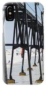 Grand Haven Lighthouse Pier In Winter IPhone Case
