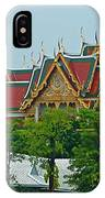 Grand Palace Of Thailand From Waterways Of Bangkok-thailand IPhone Case