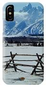 1m9306-grand Tetons From Ranch Country IPhone Case