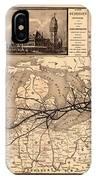 Grand Trunk Railway Map 1887 IPhone Case