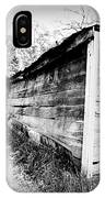 Grandpa's Wood Shed Black And White IPhone Case