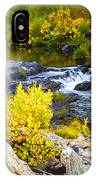 Granite Rocks Above The Cascading Feather River, Quincy California IPhone Case