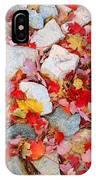 Granite Rocks Among Maple Leaves IPhone Case