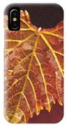 Grapevine In Fall IPhone Case