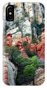 Gray And Orange Sedona Cliff IPhone Case