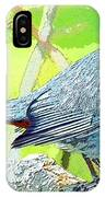 Gray Catbird Digital Art IPhone Case