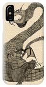 Gray Dragon IPhone Case