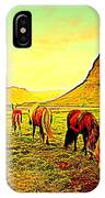 Happy To Be Grazing Again IPhone Case