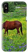 Grazing Amongst The Wildflowers IPhone Case