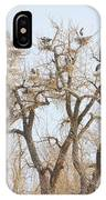 Great Blue Heron Colony IPhone Case