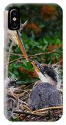 Great Blue Heron Family IPhone Case
