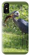 Great Blue Heron Grabs A Meal IPhone Case