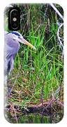Great Blue Heron In Nature IPhone Case