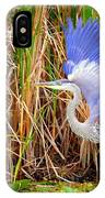 Great Blue Heron Lift Off IPhone Case