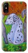Great Dane Pups IPhone Case