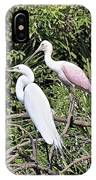 Great Egret And Roseate Spoonbill IPhone Case