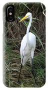 Great Egret In The Green IPhone Case