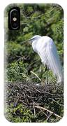 Great Egret Nest IPhone Case