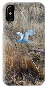 Great Egret Takes Flight IPhone Case