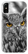 Great Horned Owl V9 IPhone Case