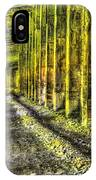 Great Norther Railroad Snow Shed - Electric Neon IPhone Case