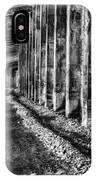 Great Northern Railroad Snow Shed - Black And White IPhone Case