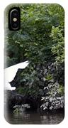 Great White Egret Flying 3 IPhone Case
