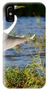 Great White Out Of The Blue IPhone Case