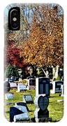 Greece Fall Cemetery IPhone Case