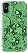 Green And Bubbles IPhone Case