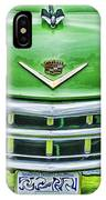 Green And Chrome-hdr IPhone Case