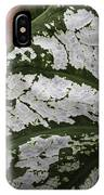 Green And Pink Caladiums IPhone Case