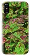 Green And Purple In Nature IPhone Case