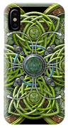 Green And Silver Celtic Cross IPhone X Case