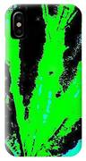 Green Blue Plant Abstract IPhone Case