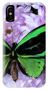 Green Butterfly And Mums IPhone Case
