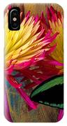 Green Butterfly On Fire Mums IPhone Case
